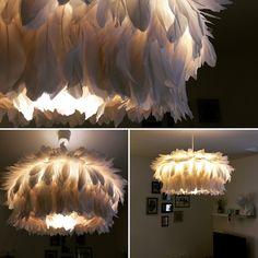 #lampe #plume #diy