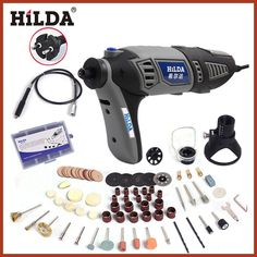 HILDA 180W Electric Mini Drill for Dremel Rotary Tool EU plug Power Tools with dremel Accessories
