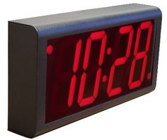 Red LEDs with BlackPlastic Case. Inova OnTime digital network clocks make it simple to keep time accurate and consistent throughout a facility. Plug them into a standard Ethernet jack, and the clocks