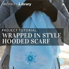 Wrapped in Style Hooded Scarf  (PR1644) from www.Emblibrary.com