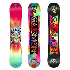 Salomon Gypsy Snowboard - Women's: Navigating the parks and side hits just got easier with our ladies freestyle whip of choice, the Gypsy Snowboar Burton Snowboards Women, Salomon Snowboard, Snowboard Design, Snowboard Bindings, Snow Gear, Snowboarding Women, Custom Boots, Skate Surf, Snow Bunnies