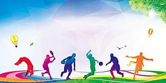 Flat Sports Background : flat sports background, Flat, Physical Education, Character, Background image More than 3 million PNG and graphics resource at Pngtree. Find the best inspiration you need for your project. Sports Day Background, Football Background, Cartoon Background, Background Banner, Wallpaper Background Design, Graphic Wallpaper, Background Images, Wallpaper Backgrounds, Sports Day Banner Design