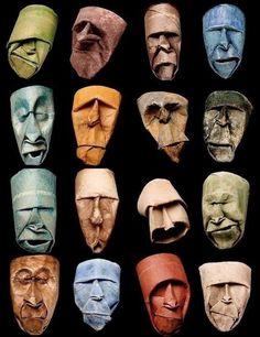 Cardboard Sculpture, Cardboard Art, Sculpture Art, Cardboard Rolls, Jennifer Stone, Toilet Paper Roll Art, Masks Art, Recycled Art, Art Plastique
