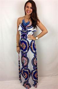 Junky Trunk Boutique. Kaleidescope Maxi Dress