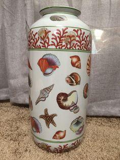 Beautiful seashell vase. 18.5 Inches.  $22. Estate Sale in Lake San Marcos, CA