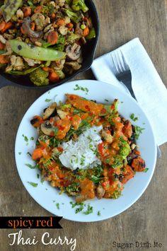 Spicy Red Thai Curry - Sugar Dish Me