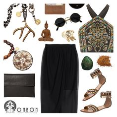 """""""OHBON Jewelry"""" by emilypondng ❤ liked on Polyvore featuring Topshop, Alice + Olivia, Killah, Rick Owens, women's clothing, women's fashion, women, female, woman and misses"""