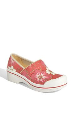 DANSKO Volley Canvas Floral Clogs. I Love dansko soo comfy! Got these in orchid.