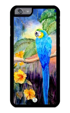 iZERCASE iPhone 6 PLUS, iPhone 6S PLUS Case Parrot Painting Design RUBBER CASE - Fits iPhone 6 PLUS, iPhone 6S PLUS T-Mobile, Verizon, AT&T, Sprint and International. COLOR OPTIONS: Our rubber cases come in black and white options as shown in pictures abo