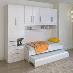 Quarto de solteiro com cama de solteiro 1326 No Bed Ilan - Bed - Einrichten und Wohnen - Single Bedroom, Small Room Bedroom, Trendy Bedroom, Small Rooms, Bedroom Decor, Bedroom Closet Storage, Bedroom Closet Design, Bedroom Wardrobe, Luxury Bedroom Furniture