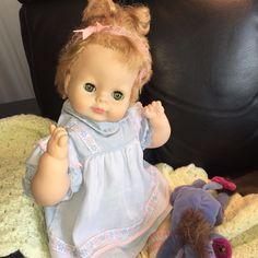 "85999f5e01 Vintage 1964 VOGUE Baby Dear Doll Green Sleep Eyes Blonde Hair 17"" Dressed   Vogue"
