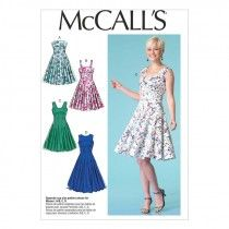 McCalls Sewing Pattern Misses' Dresses  6-14