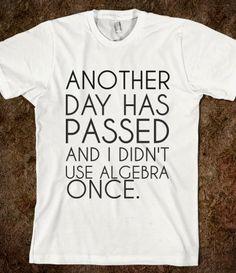 Algebra T-Shirt from Glamfoxx Shirts