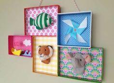 Manualidades para habitación infantil:  Fotos ideas DIY - Cuadros para la habitación infantil
