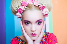 candy, colors, make-up, blonde, flowers, pink, fashion, arina varga Candy Colors, Pink Fashion, Make Up, Band, Flowers, Accessories, Maquillaje, Sash, Ribbon
