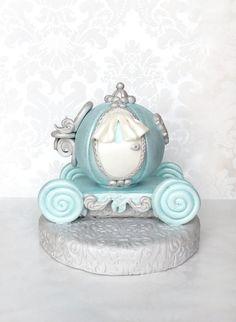 Fondant Princess Carriage Cake Topper/Cinderella by MargieSugarArt