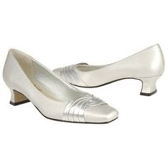 Easy Street Tidal Shoes (Silver Satin) - Women's Shoes - 6.5 E