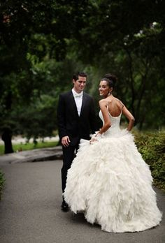 elegant feather wedding dressses