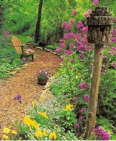 Bark Mulch Pathways ~ less expensive and natural