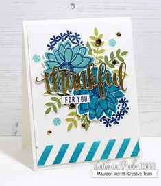 Mama Mo Stamps: Thankful Bloomin' Bouquet