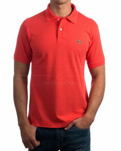 Elige tu color Compra al mejor precio Polos Lacoste - Coral Polos Lacoste, Custom Polo Shirts, Coral, Moda Casual, Shirt Designs, Swag, Polo Ralph Lauren, Menswear, Jeans