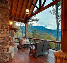 Would you like to wake up and enjoy your morning coffee on this deck overlooking the mountains?