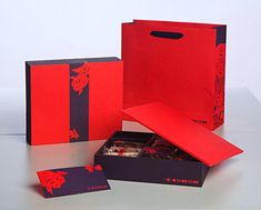 Custom Product Ecoh Chinese New Year Gift Set Packaging Design Layout