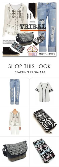 """""""Tribalover.com"""" by svijetlana ❤ liked on Polyvore featuring Frame Denim, Nicole Miller and Yves Saint Laurent"""