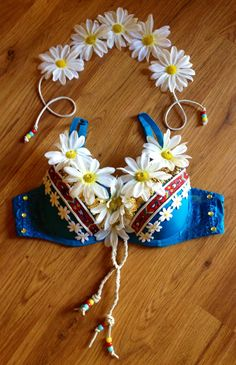 Flower Child Rave Bra with matching Daisy Halo. $65.00, via Etsy.