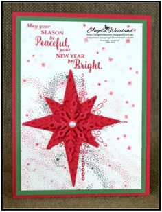 """Hi Everyone, I have been having so much fun playing with this stamp set """"Star of Light"""" I have already made some Christmas Cards using th..."""