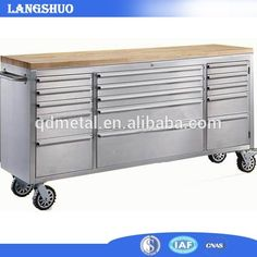 72 inch stainless steel tool cabinet tool chest wood top bench China, View tool box roller cabinet, LangShuo Product Details from Qingdao Langshuo Metal Products Co., Ltd. on Alibaba.com