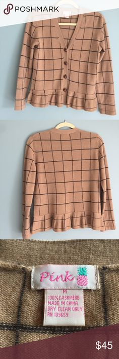 "🍏NEW LISTING ""PINK"" 100% Cashmere Sweater Comfy cool flattering cashmere sweater. Slight pilling as shown in pictures. Sweaters Cardigans"