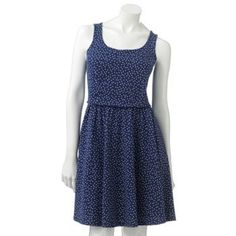 LC Lauren Conrad Dot Open-Back Dress