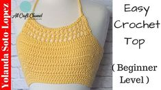 In today's video tutorial you will learn how to crochet this top using cotton yarn. This crochet top is idea for warm weather. It uses basic stitches and is a easy, beginner level project. Using cotton yarn for comfort I was able to quickly crochet thi. Crochet, How, Crochê, Summer,