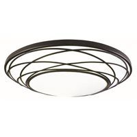 Portfolio 19-in W Black Integrated LED Deco Ceiling Flush Mount