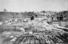 California History - Sacramento - 1865 (I wonder where in Sacramento. Look at… California History, Sacramento California, Vintage California, Old West Town, El Dorado County, Panning For Gold, San Francisco Earthquake, Gold Rush, Future Travel
