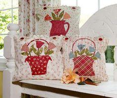 Almohadones con flores