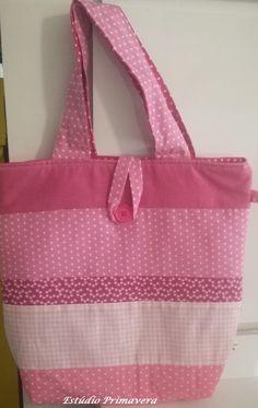 Bolsa em patchwork em tons de rosa. https://www.facebook.com/EstudioPrimavera/