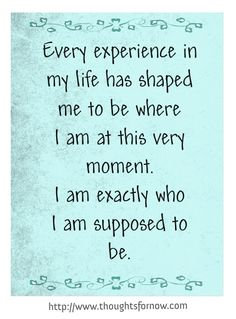 Daily Affirmations from www.thoughtsfornow.com