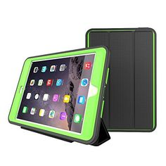$2.35 (80% Off) on LootHoot.com - IPAD MINI 4 Smart CASE, 3 In1 PC + TPU + Leather Hybrid [Stand] Shockproof Protective Cover Case with Auto Wake / Sleep for Apple New iPad Mini 4 Released on 2015 with Screen Protect,Color (Green)