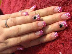 Minney themed girly nails