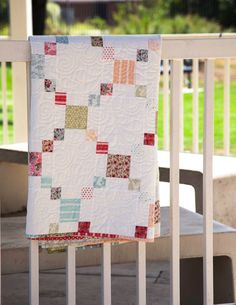 A simple Irish chain design was the perfect pattern for the lovely Loyal Heights fabric line by Quilting in the Rain for Lecien. Jellyroll Quilts, Scrappy Quilts, Easy Quilts, Jelly Roll Quilt Patterns, Quilt Block Patterns, Quilt Blocks, Low Volume Quilt, Machine Quilting Designs, Quilting Ideas