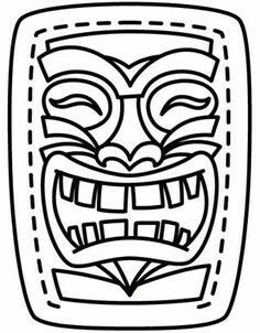 (Hawaiian) Tiki Mask Template Printable Sketch Coloring Page Hawaiian Birthday, Hawaiian Theme, Luau Birthday, Hawaiian Luau, Birthday Parties, Hawaiian Parties, Aloha Party, Luau Theme Party, Beach Party