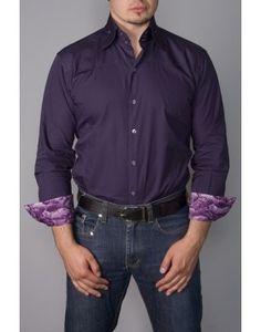 FLL 3401 DKPUR $165.00 Available Now Dark Purple button down shirt ...
