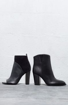 Sleek black booties are a fall fashion necessity. #nordstrom #NSale