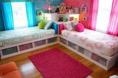 Blue & Pink child's bedroom bunk beds