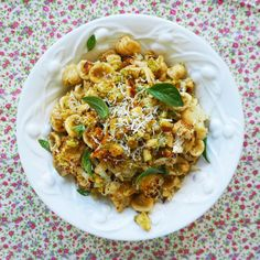 roast cauliflower orecchiette with crispy herb and parmesan crumbs