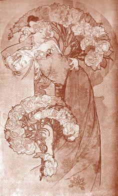 Decorative panel by Alphonse Mucha