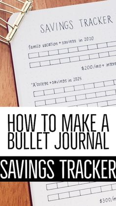 Saving money over the course of months or years doesn't seem like that much fun. But can be a lot more fun and motivating when you make a savings tracker in your bullet journal! Bullet Journal Comment, Making A Bullet Journal, Bullet Journal How To Start A, Bullet Journal Layout, Bullet Journal Inspiration, Journal Ideas, Bullet Journal Printables, Journal Template, Bujo