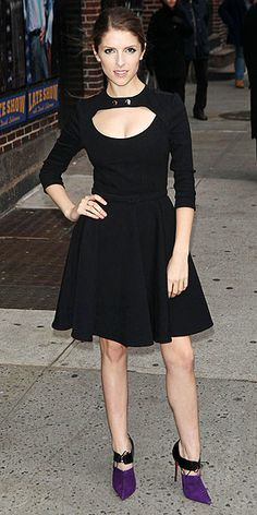After her high-fashion turn, and a festive outing the Into the Woods actress gets flirty in a fit-and-flare Carven LBD ...